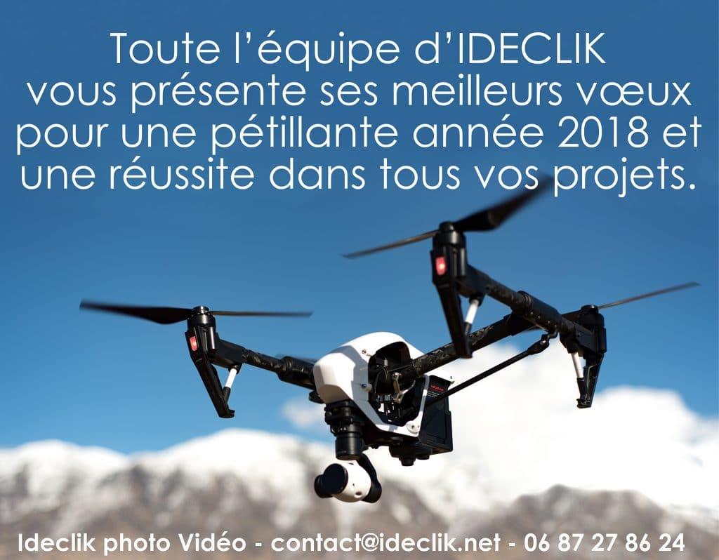 ideclik drone vendée voeux 2018